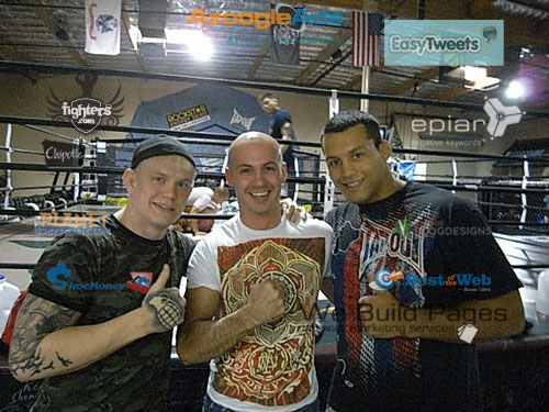 Dave Dellanave, Vinne and Junie from the Ultimate Fighter